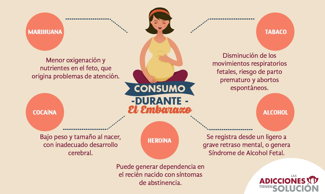 info consumo durante el embarazo